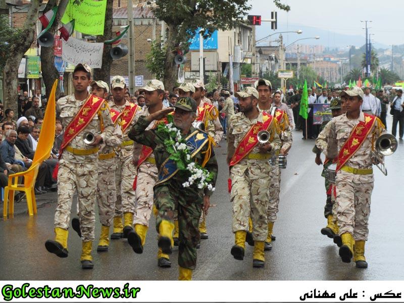 رژه نیروهای مسلح شهرستان علی آباد کتول