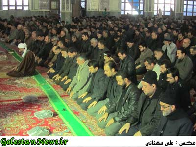 نماز ظهر عاشورا شهر علی آباد کتول-گلستان