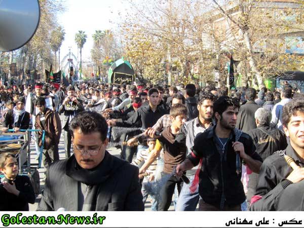 عزاداری روز عاشورا شهر علی آباد کتول-گلستان