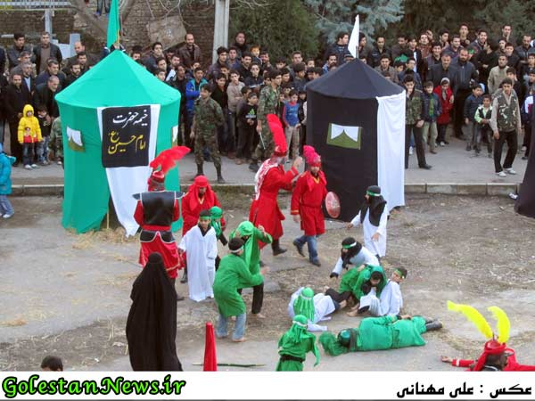 آئین تعزیه خیمه سوزان-علی آباد کتول-گلستان
