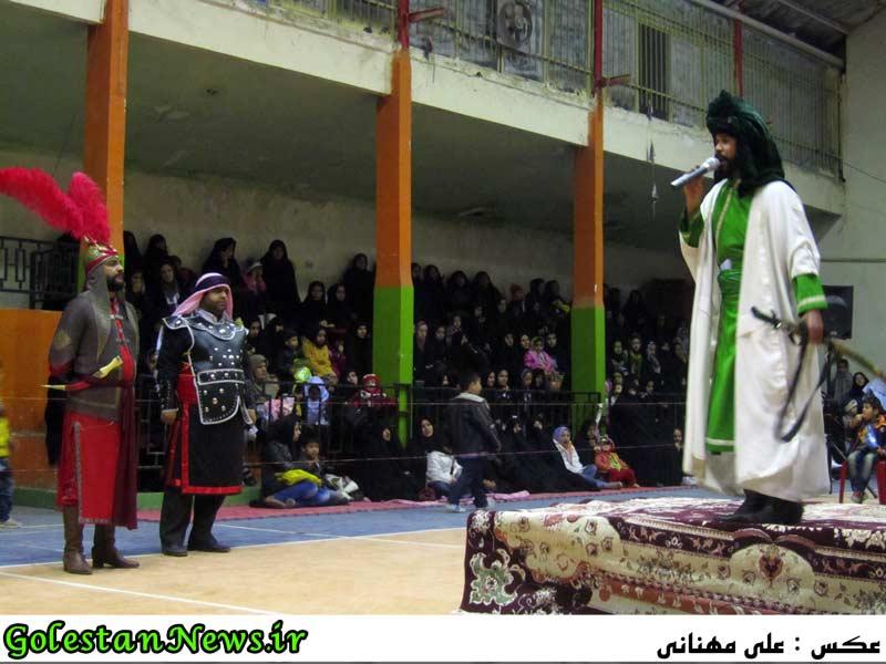 گزارش تصویری شب سوم شبیه خوانی مجالس سید و سالار شهیدان حضرت امام حسین (ع)-علی آباد کتول-گلستان