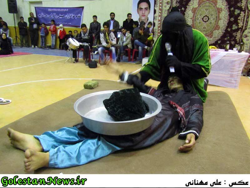 گزارش تصویری شب چهارم شبیه خوانی مجالس سید و سالار شهیدان حضرت امام حسین (ع)-علی آباد کتول-گلستان