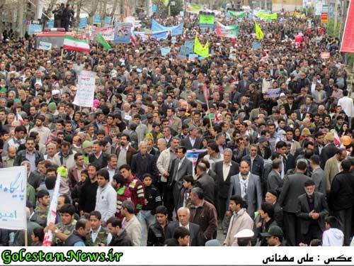 راهپیمایی 22 بهمن1391-علی آباد-گلستان