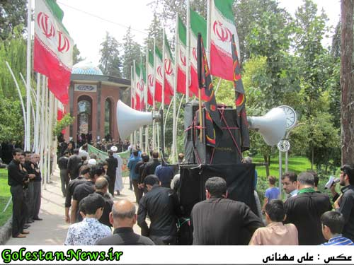 دسته روی هیئات مذهبی شهر علی آباد کتول-سالروز شهادت حضرت علی (ع)-گلستان نیوز