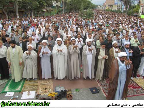 گزارش تصویری نماز عید سعید فطر در شهر علی آباد کتول