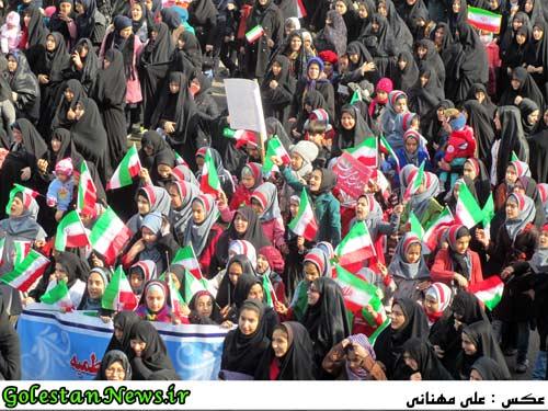 حضور کودکان و نوجوانان در راهپیمایی 22 بهمن 93 علی آباد کتول-2
