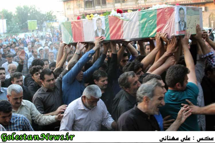 استقبال از اولین شهید مدافع حرم شهر علی آباد کتول شهید قربان نجفی