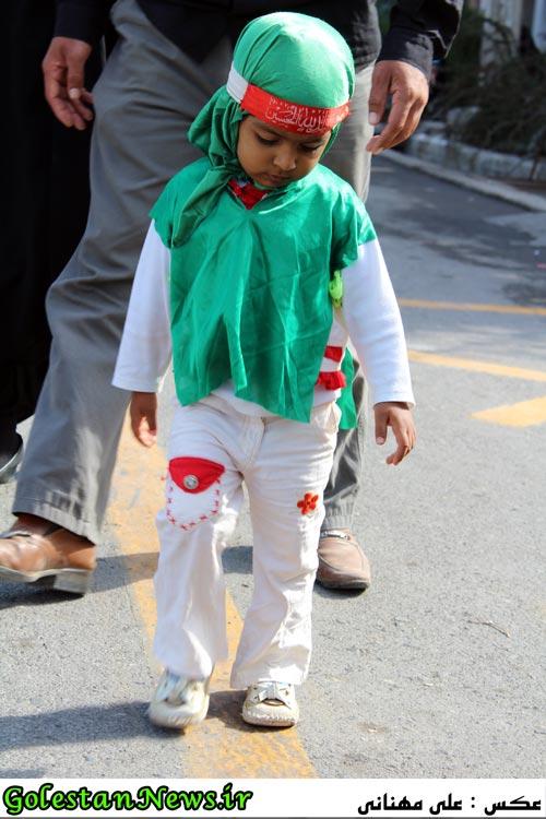 حضور کودکان علی آباد کتول در عزاداری های ماه محرم