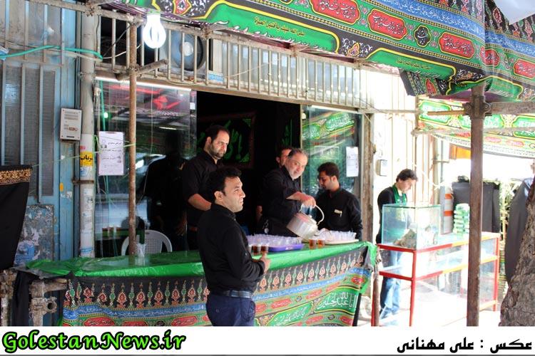 موکب و ایستگاههای صلواتی و نذری علی آباد کتول در محرم