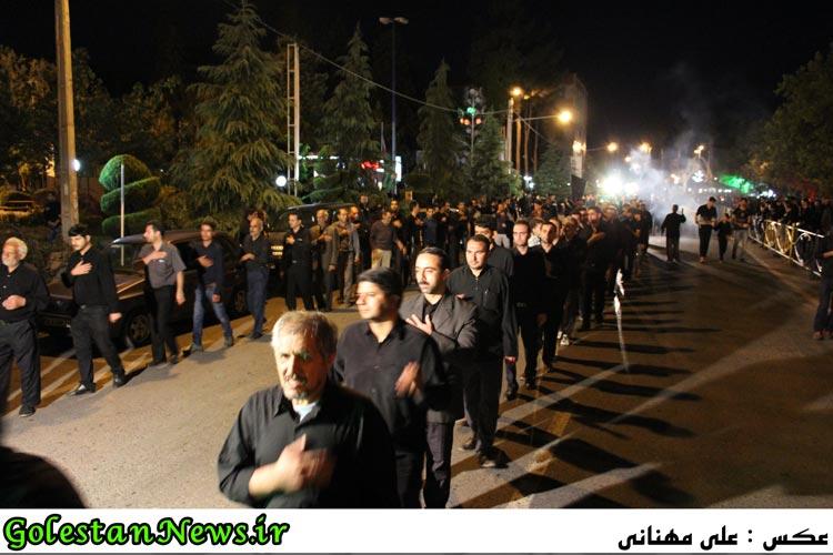 دسته روی هیئات مذهبی علی آباد در شبهای محرم