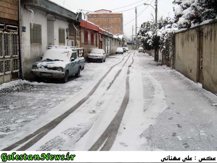 کوچه های برفی علی آباد کتول