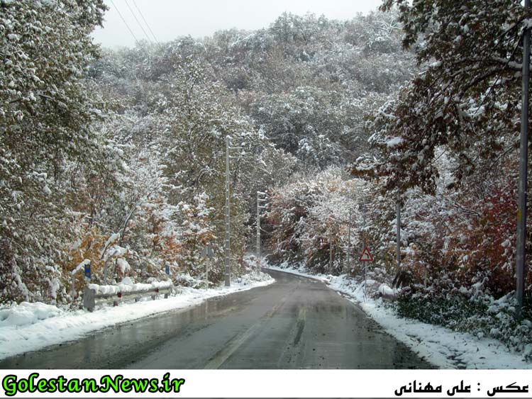 طبیعت برفی جنگل و سد کبودوال علی آباد کتول