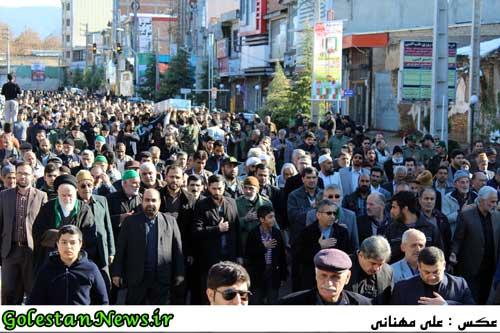 تشییع دو شهید گمنام در علی آباد کتول و سنگدوین