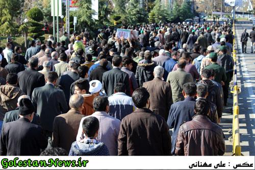 تشییع دو شهید گمنام در علی آباد کتول استان گلستان
