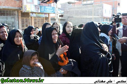 تشییع و  خاکسپاری پیکر مطهر 2 شهید گمنام در سنگدوین/1