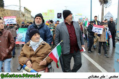 راهپیمایی 22 بهمن 1395 علی آباد کتول