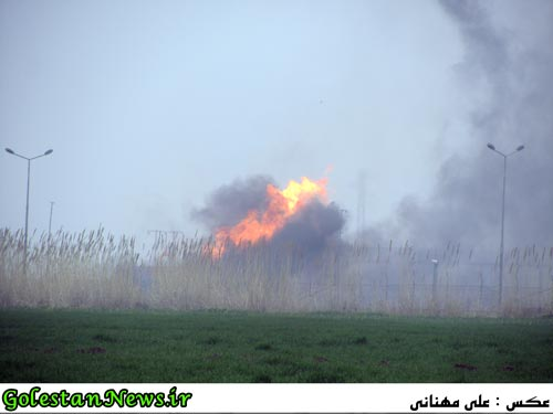 انفجار در فشار شکن گاز نیروگاه علی آباد