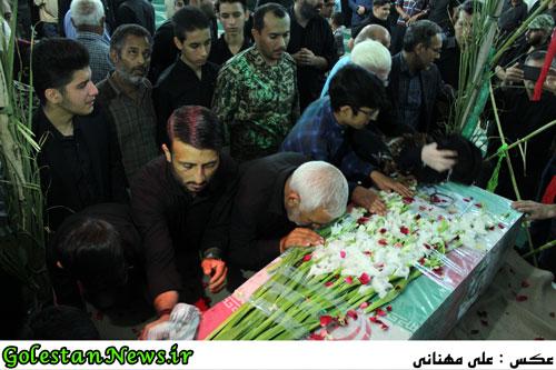 وداع با پیکر پاک پاسدار شهید علی نصرتی-گلستان نیوز