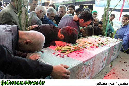 وداع فاضل آبادی ها با پیکر پاک پاسدار شهید علی نصرتی-گلستان نیوز