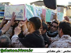 استقبال از پیکر پاک پاسدار شهید علی نصرتی-گلستان نیوز