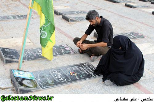 تشییع پیکر پاک پاسدار شهید علی نصرتی در شهر علی آباد کتول-گلستان نیوز